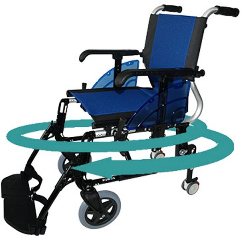 Silla de ruedas aluminio line giro azul talla 40 for Sillas de ruedas estrechas
