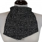 Pañuelo de Traqueotomia Seda Negro-Blanco