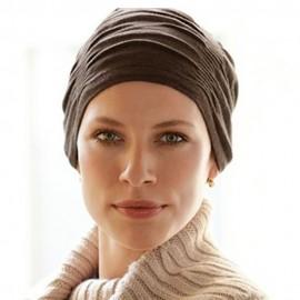1410-187-027_Pañuelo Quimioterapia Dahlia Hat brown 42661