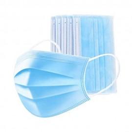 5304-300-001_Mascarilla Quirofano 3 pliegues  goma color Azul