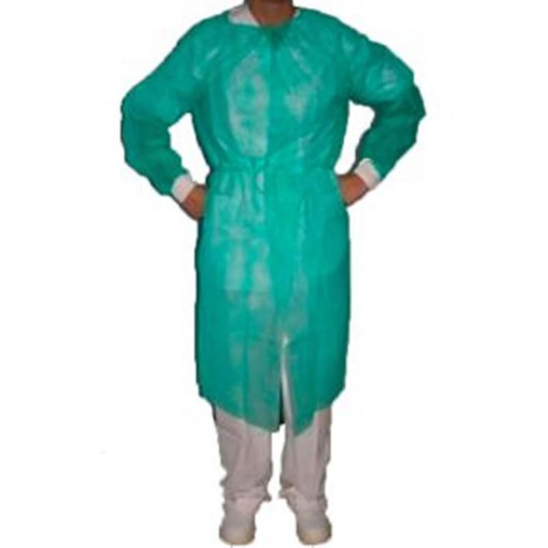 5306-164-015_Bata protección esteril imperable verde