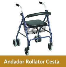 Andador Rollator con 4 Ruedas