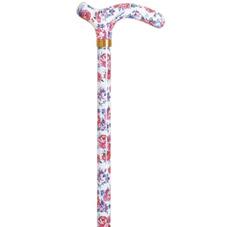 Bastón de paseo estampado de flores rosas