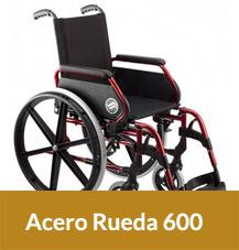 Sillas de Ruedas Plegables de Acero Ruedas 600